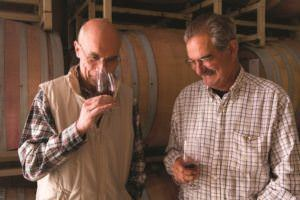 Aubert and Larry in the winery-CMYK