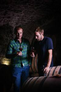 Edouard Parinet, owner and Brice Laffond, winemaker