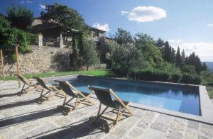La Pozza, one of the many beautiful villas for rent outside Volpaia