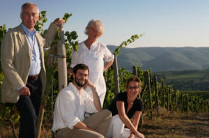 Carlo, Giovanella, Nicoló and Federica in Volpaia's Santa Caterina Vineyard