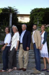 Federica, Giovanella, Carlo, Nicoló and Annalisa in their garden