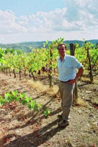 Lorenzo Regoli, winemaker, in Volpaia's Santa Caterina Vineyard